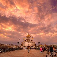 """фото """"Про мост, храм и закат"""""""