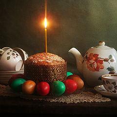 """фото """"Горит пасхальная свеча"""""""