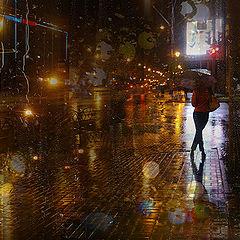 """фото """"...когда огни окон в асфальте мокром..."""""""