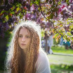"""фото """"Облако волос в облаке цветов..."""""""