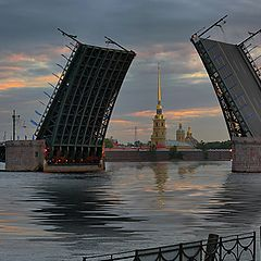 "photo ""Over St. Petersburg dawn"""