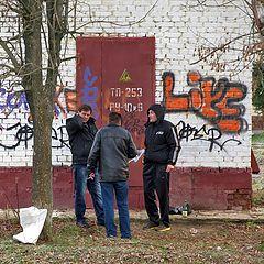 """фото """"Три лица на улице"""""""