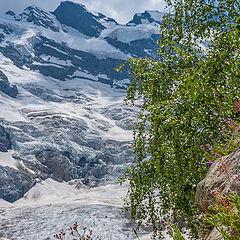 """фото """"Вид на ледник Алибек"""""""