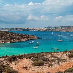 "photo ""Blue Lagoon in Comino Island"""