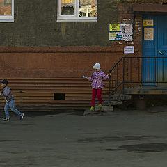 """photo """"У подъезда №3"""""""