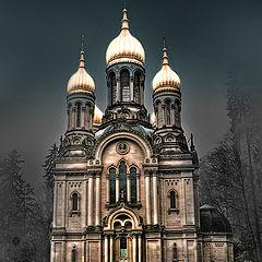 "photo ""Church in the fog"""