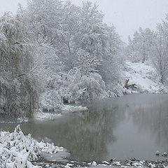 """фото """"Новогодный снегопад"""""""