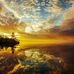 "фото ""Закат на озере Шуонияур"""