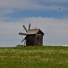 """фото """"Ветряная мельница. Кижи."""""""