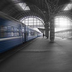 """фото """"Как провожают поезда"""""""