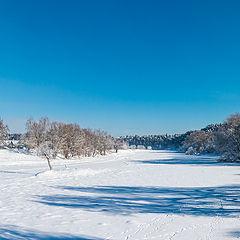 """фото """"Морозное утро на Москва реке"""""""