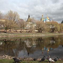 """фото """"Вид на Новоспасский монастырь"""""""