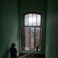 """фото """"Дом с цветком на окне"""""""