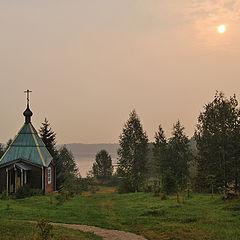 """фото """"Утро в Важеозёрском монастыре."""""""