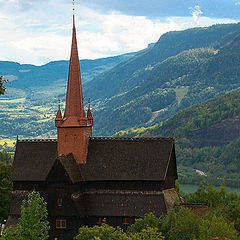 """фото """"Old traditional church in Norway"""""""
