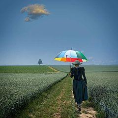 """photo """"Die Dame mit dem Sonnenschirm."""""""