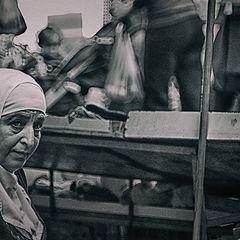 "photo ""Portrait of a saleswoman"""