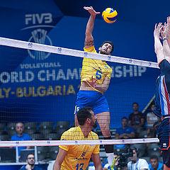 """фото """"FIVB Volleyball Men's World Championship Italy and Bulgaria 2018 - Netherlands : Brazil"""""""
