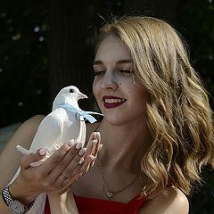 """фото """"девушка и голубь"""""""