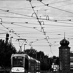 """photo """"Трамвай и башня"""""""