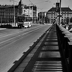 """photo """"Трамвай и мост"""""""