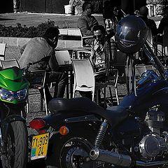 """photo """"Bikes and bikers"""""""