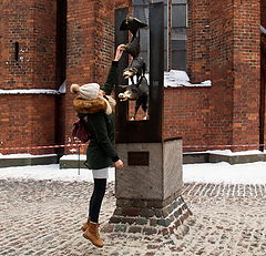 """photo """"In the jump for Happiness and Dream. Riga"""""""
