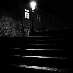 """фото """"Ночной фонарь и лестница"""""""