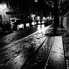 "photo ""Ночная cкамейка и улица"""