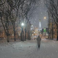 """фото """"Снежный вечер"""""""