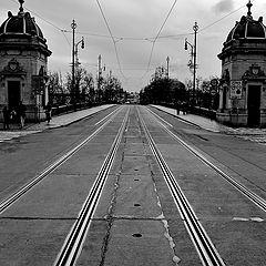 """photo """"Мост и трамвайные пути"""""""