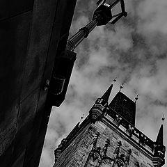 "фото ""Фонарь и башня"""