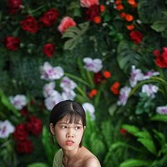 "photo ""girl and flower"""