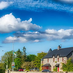"photo ""Yeats country inn on background sunny day"""