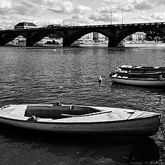 """photo """"Мост и лодки"""""""
