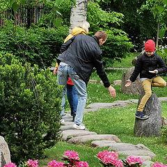 "photo ""Occasional Meetings in Kadriorg Japanese Garden"""