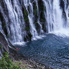 """photo """"Рыбалка у водопада."""""""