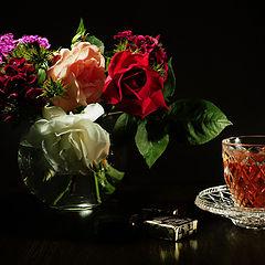 "photo ""Вечерний чай с букетом"""