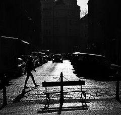 """photo """"Скамейка и улица"""""""