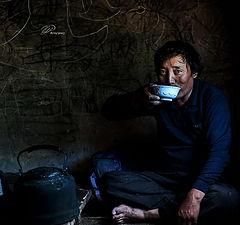 "photo ""Tibetan man: Sincere eyes"""