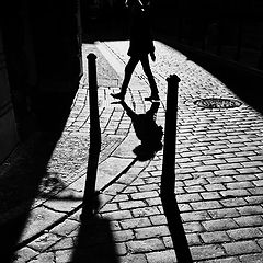 """photo """"Фигура, столбики и тени"""""""