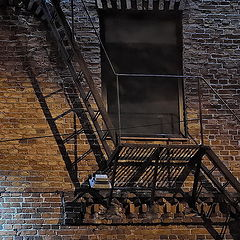 "photo ""Evening, Staircase, Lantern)"""