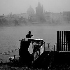 """photo """"Туманное утро у реки Влтавы"""""""