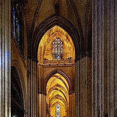 """photo """"Inside Seville Cathedral"""""""