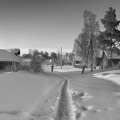 """фото """"Зимнее утро в деревне"""""""