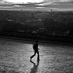 "photo ""Утренний пешеход над Прагой"""