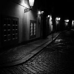 """photo """"Ночные фонари и крышка люка"""""""