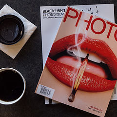 "фото ""Hot coffee and Cool magazines"""
