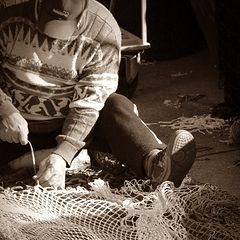 """photo """"the fisherman and the net"""""""