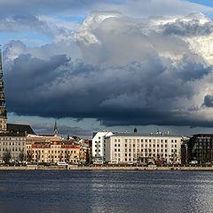 "photo ""Riga St Peter Church Spire"""